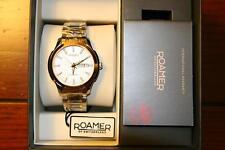 Roamer Mechaline EOS Gold Tone Swiss Made Men's Automatic Watch RARE NEW