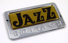 Jazz gold Edition Chrome Emblem with domed decal Car Bike Auto Motorcycle Badge