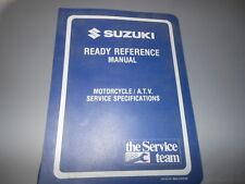 1994 Suzuki Models Motorcycle & Atv Ready Reference Manual