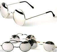 John Lennon Sunglasses Round Hippie Shades Mirror Lens Retro Gold Black Silver