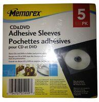 Memorex CD & DVD Adhesive Sleeves 30 Pack