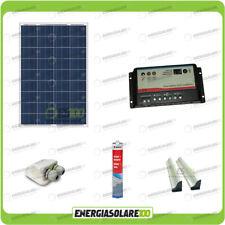 Kit Solare Camper 80W 12V regolatore doppia batteria pannello solare accessori