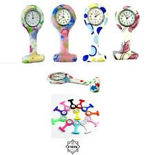 Plain Colour Silicone Medic Nurse Fob Watch - Brooch Tunic Watch UK