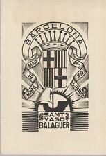 ex-libris sant yago balaguer (barcelona)