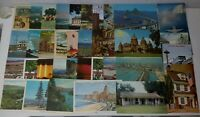 Lot of 38 Vintage Postcards 1960's 1970's USA Cities Historic Locations Landmark