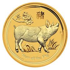 1/4 oz Gold Lunar Schwein 2019 - Jahr des Schweins Australien Goldmünze 999,9