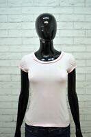 RALPH LAUREN Maglia Donna XS Polo Manica Corta T-shirt Shirt Cotone Rosa Jersey