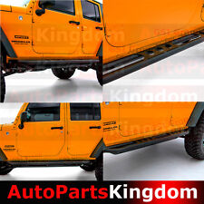 HD Armor Rocker Sliders Tube Rock Slider+Step for 07-17 Jeep JK Wrangler 4 Door