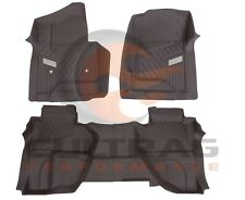 2015-2018 Sierra Double Cab Front & Rear All Weather Floor Liners Cocoa