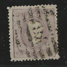 Portugal: 1867; Scott 33, Used, pin hole, teeh corner broken Cat: 475$. EBPO002