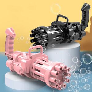 Gatling Bubble Gun Toys Summer Cooling Fun Automatic Bubble Machine Kid Gift