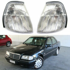 For Mercedes Benz W202 1994-2000 95 96 1999 Pair Corner Lamps Turn Signal Lights