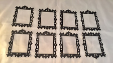 Tim Holtz  Die Cuts: Ornate Frame #2 * Black Cardstock * Eight Frames!