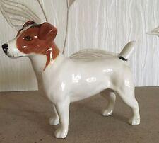 Beswick Perro Jack Russell Terrier Modelo No.2023 Brillo grandes Perfecto