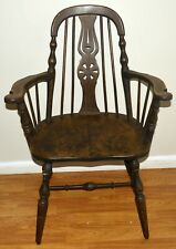 ANTIQUE 1860'S HANDMADE WOODEN ARMCHAIR VICTORIAN COUNTRY KITCHEN COLLECTIBLE