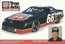 "1992 CALE YARBOROUGH ""PHILLIPS 66 TROP ARTIC"" #66 NASCAR WINSTON CUP POSTCARD"