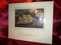 Vintage Art Print CLIPPER SHIP DREADNOUGHT off TUSKAR LIGHT Nautical Maritime