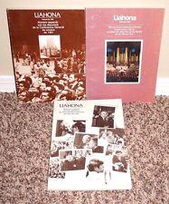 LOT OF 3 LIAHONA JULIO de 1983, Febrero de 1982 & Agosto de 1981 LDS MORMON PB