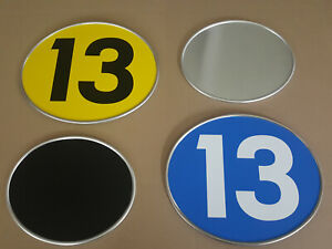 Startnummer Tafel , Alu , Oval