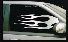 "CHROME SILVER FLAME Car Truck SUV Both SIDE Left Right Window Tint Film 24""x36"""