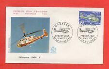 "FDC - 1975 - Hélicoptère ""Gazelle""    (813)"