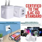 2 Pack USB Wall Charger Dual Port US Adapter Plug 5V/2.1Amp Quick Fast Charging