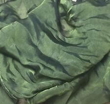 "Silk CHIFFON Fabric IRIDESCENT OLIVE GREEN 54"" by the yard"