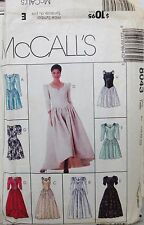 McCALL'S Sewing Pattern #8043 MISSES BRIDAL GOWN PROM DRESS COSTUME Sz 10-14 CUT
