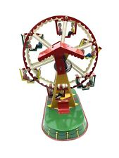 Vintage Wind Up Ferris Wheel Carnival Ride Tin Toy by J Wagner Germany