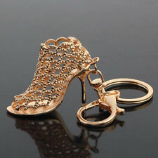 Mode Gold Schlüsselanhänger Auto Tas Schuh Strasssteine Schöne Kristall-Geschenk