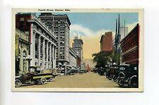 "Dayton OH Ohio Fourth Street view old cars truck ""Dayton Auto Company"", postcard"