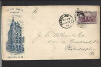 WHEELING,WEST VIRGINIA,1894,#231 COLUMBIAN ILLUST ADVT COVER, THE CITY BANK.