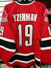 Steve Yzerman Signed Team Canada Olympic Red Jersey With Stevie Y Authentic COA