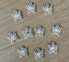 Beautiful Butterfly Charms Pack 10 Charm Pendants -Free Post