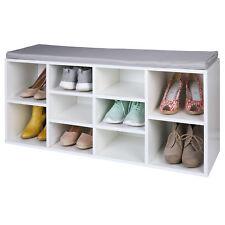 TRESKO® Banc de rangement Armoire Meuble à chaussures + coussin Meuble d'Entrée