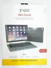 ZAGG Slim Book Thin Case Hinged W Detachable Wireless Keyboard for iPad Pro 12.9