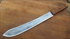 RARE Antique RUSSELL Green River Chef's Carbon Steel Butcher Knife RAZOR SHARP