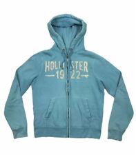 HOLLISTER Zip Up Hoodie Blue Jumper Medium Women's