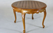 Dollhouse Miniature 1:12 Scale Walnut Round Plank Topped Table #1157WN