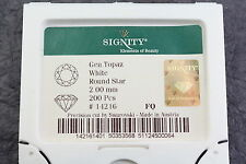 Signity White Topaz 2mm Round Star Loose Gemstone Parcel 200 Pieces