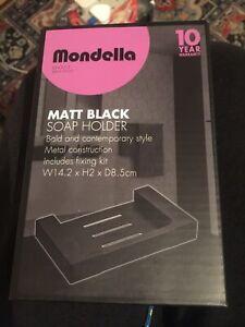 Mondella ~ Vivace ~ Soap Holder Dish Wall Mountable ~ Matt Black Vogue New