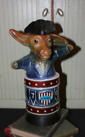 Jim Beam Democrat Donkey Decanter Whiskey Bottle Vintage 1976 Bicentennial
