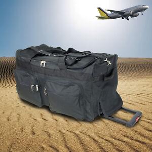 Reisetasche XL Trolley 115L groß 3 Rollen Sporttasche Tasche schwarz Reise