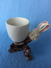 Vintage Easter Egg Cup Holder Rabbit Bunny Ceramic by HOLLAND 1920's