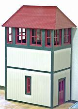 CROSSING SWITCH & BRIDGE TOWER G 1:24 Model Railroad Unpaintd Structure Kit CMS2