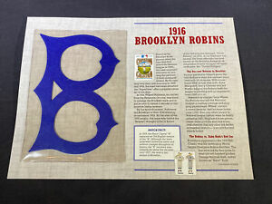 Willabee & Ward MLB Cooperstown 125 Year Collection 1916 Brooklyn Robins Patch