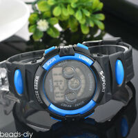 Unisex Men Sports Waterproof Digital Light Colorful Wrist Watch Student Watches