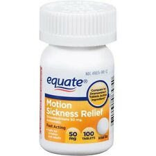 Generic Dramamine Equate Motion Sickness Dimenhydrinate 50 mg Nausea 100 tablets