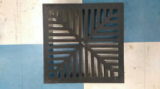"""12"""" x 12"""" 305mm x 305mm 13mm 1/2"""" thick Square Cast iron gully grate grid Heavy"""