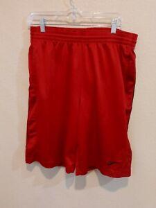 NIKE Red Basketball Shorts Men's M